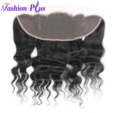 Fashion Plus - Loose Wave 100% Human Hair Brazilian Virgin 13x4 Lace Frontal Loose Wave Hair Frontals