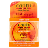 Cantu Shea Butter Extra Hold Edge Stay Gel for Natural Hair, 2.2oz