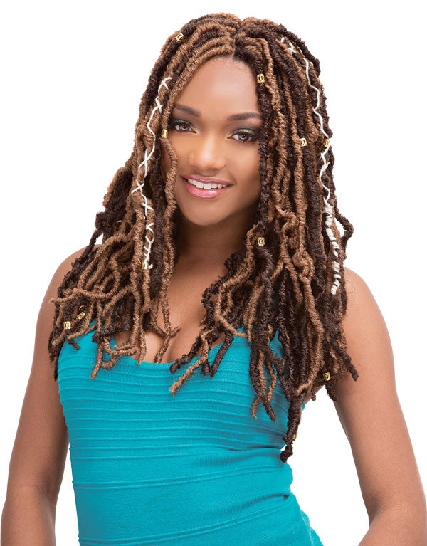 Janet Collection - 2X Natural Born Locs 18""