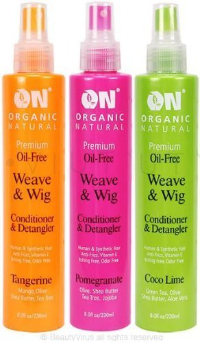 ON Natural Premium Oil-free Weave & Wig Spray Tangerine, 8 Fluid Ounce