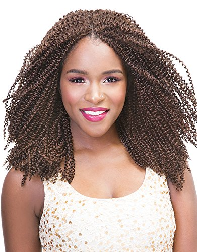 Janet Collection MAMBO Twin Open Loop 4B Crimpy Kinky Braid 12'