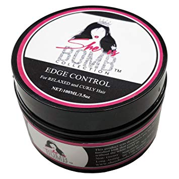She Is Bomb Collection - Edge Control 3.5oz Sleek Edges Hair Gel for Styling