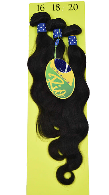 Rio - Body Wave 100% Human Hair Brazilian Virgin Weave 3PC Bundles Body Wave Hair Extensions
