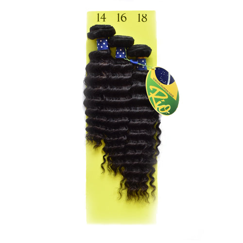 Rio - Pineapple Wave 100% Human Hair Brazilian Virgin Weave 3PC Bundles Pineapple Wave Hair Extensions