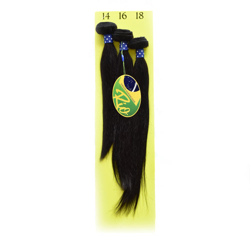 Rio - Straight 100% Human Hair Brazilian Virgin Weave 3PC Bundles Straight Hair Extensions
