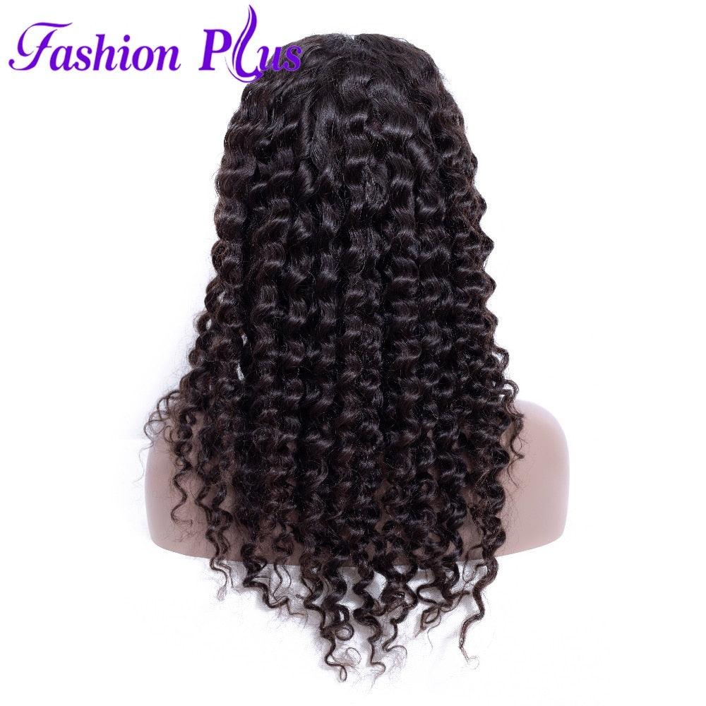 Fashion Plus - Brazilian Deep Wave Full Lace 100% Human Hair Wig