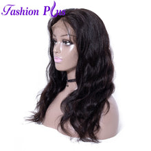 Load image into Gallery viewer, Fashion Plus - Body Wave Full Lace 100% Human Hair Wig with Baby Human Hair 180% Density Natural Color Brazilian Body Wave Human Hair Wigs