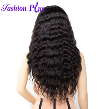 Load image into Gallery viewer, Fashion Plus - Loose Wave Full Lace 100% Human Hair Wig with Baby Human Hair 180% Density Natural Color Brazilian Loose Wave Human Hair Wigs