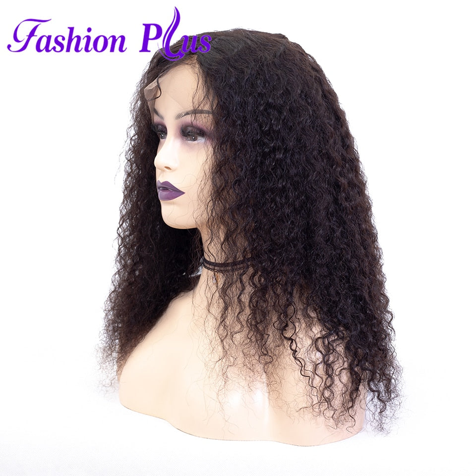 Fashion Plus - Brazilian Curly Full Lace 100% Human Hair Wig