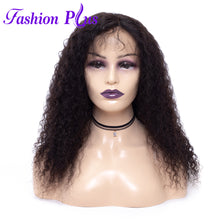 Load image into Gallery viewer, Fashion Plus - Curly Full Lace 100% Human Hair Wig with Baby Human Hair 180% Density Natural Color Brazilian Curly Human Hair Wigs