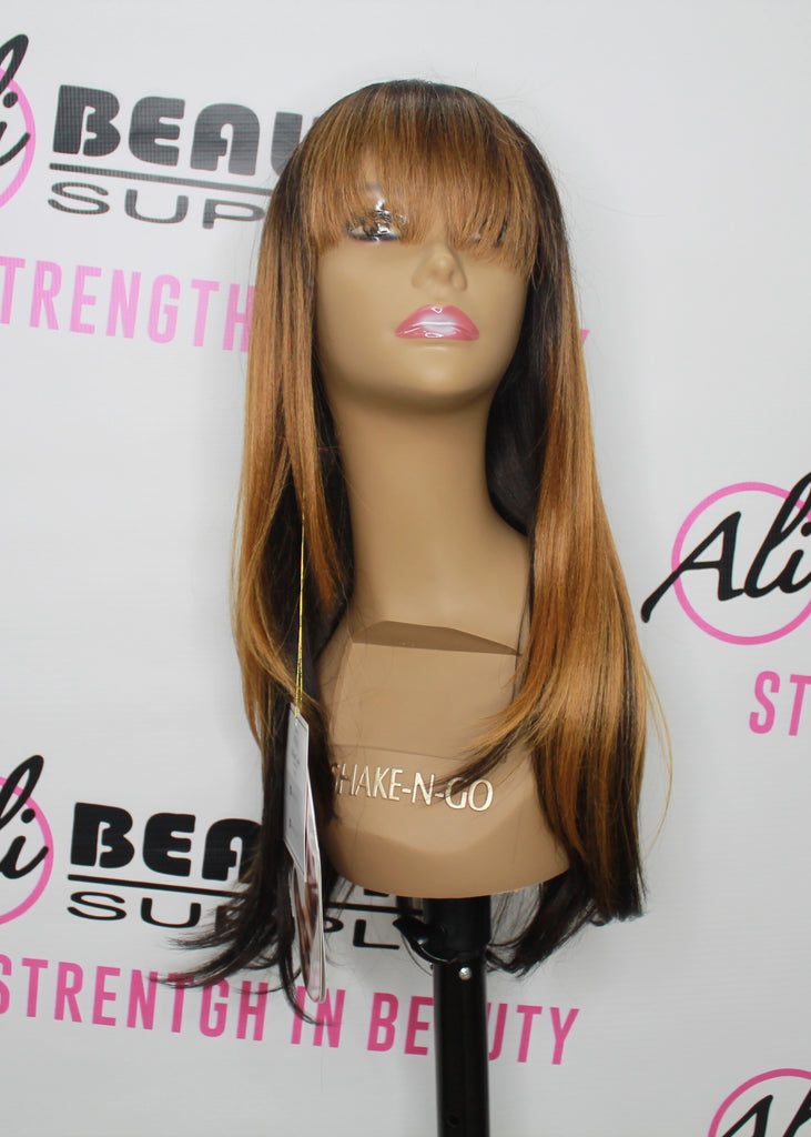 FreeTress Equal 100% Hand-Tied Italian Lace Front Wig With Bangs – Brisa (CMBRUNETTE)