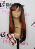 FreeTress Equal 100% Hand-Tied Italian Lace Front Wig With Bangs – Brisa (CMBRANDY)