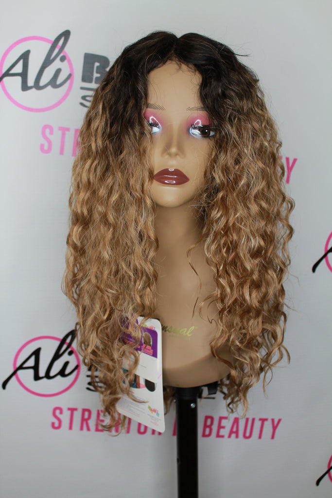 Janet Collection Extended Part Lace Doris Synthetic Wigs