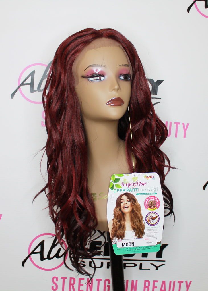 Janet Collection Deep Part Moon Lace Synthetic Wigs