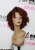 "Freetress Equal Lace & 5"" Lace Part Medium Rod Set Lace Front Wig"