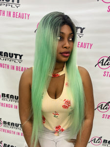 Rio Full Lace Frontal Straight 24' Human Hair MINT