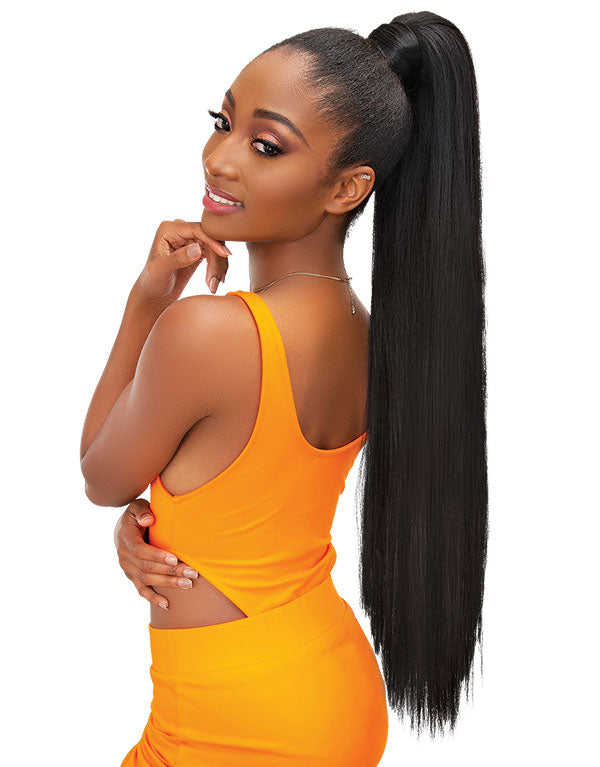 Janet Collection Essentials Snatch & Wrap Ponytail - Straight