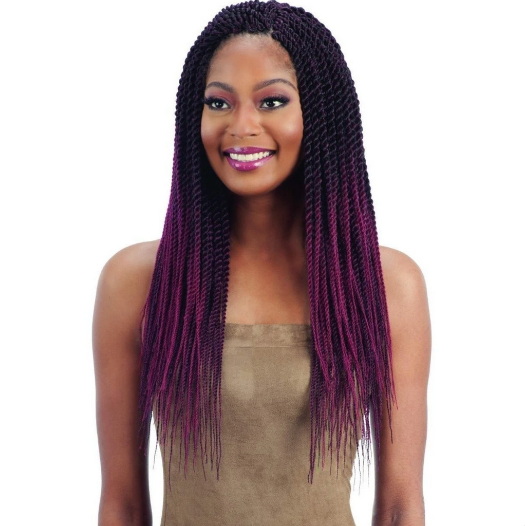 "FreeTress Pre-Feathered Senegalese Twist 20"" Crochet Braids"