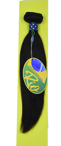Rio - Straight 100% Human Hair Brazilian Virgin Weave Single Bundle Straight Hair Extensions