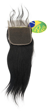 Rio - Straight 100% Human Hair Brazilian Virgin 4x4 Lace Closure Straight Closures