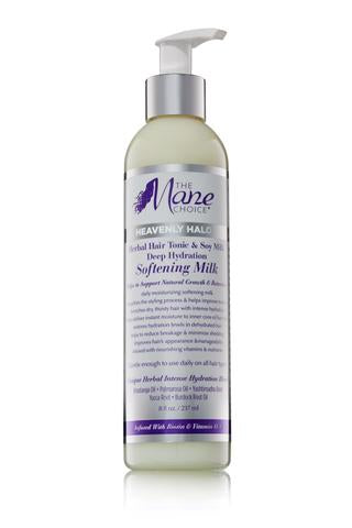 The Mane Choice Heavenly Halo Herbal Hair Tonic & Soy Milk Deep Hydration Softening Milk 8oz