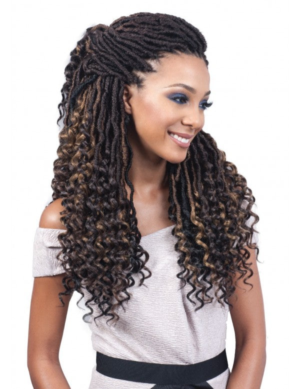Bobbi Boss Crochet Braids - Nu Locs Goddess Curly Tips 20""