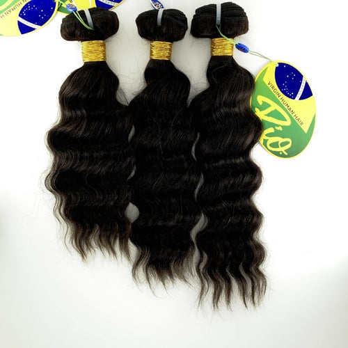 Rio - Malaysian Wave 100% Human Hair Brazilian Virgin Weave 3PC Bundles Malaysian Wave Hair Extensions