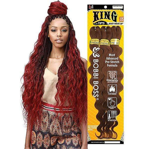 Bobbi Boss Synthetic Pre-Feathered Braid - 3X KING TIPS BODY WAVE 28