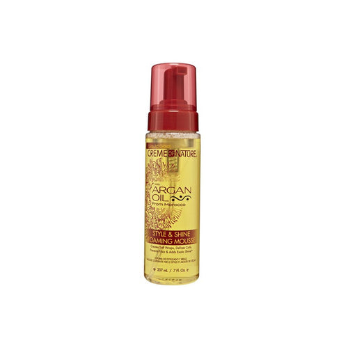 Creme Of Nature With Argan Oil From Morocco Style & Shine Foaming Mousse 7 fl oz