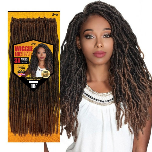 Zury 3X Value Pack Crochet Braid Wiggle LOC Braid 18''
