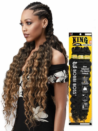 Bobbi Boss Synthetic Pre-Feathered Braid - 3X KING TIPS OCEAN WAVE 28