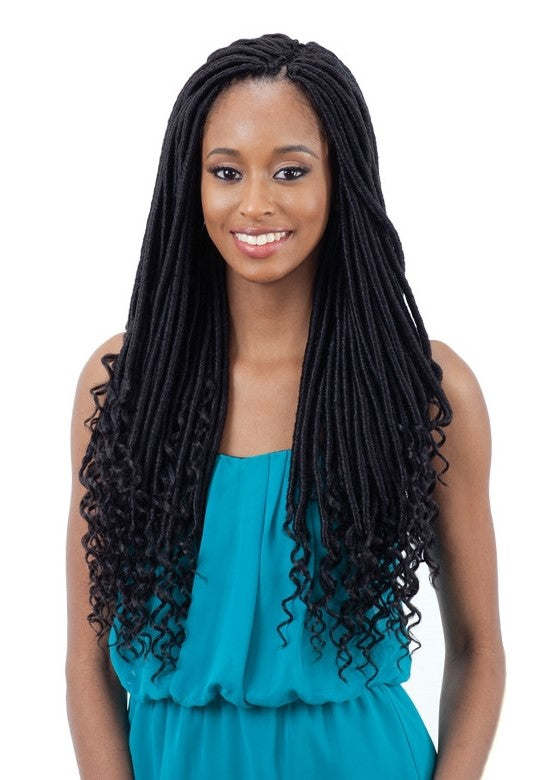 "FreeTress Goddess Straight Loc 18"" Crochet Braids"