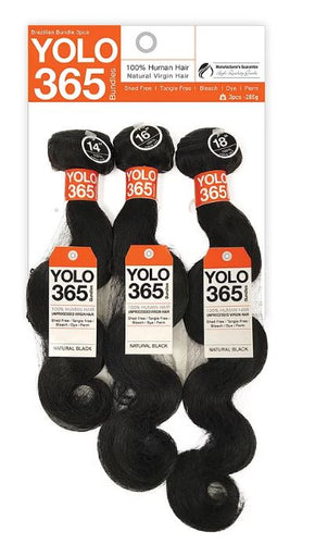 YOLO 365 BODYWAVE Virgin Natural Hair Bundle