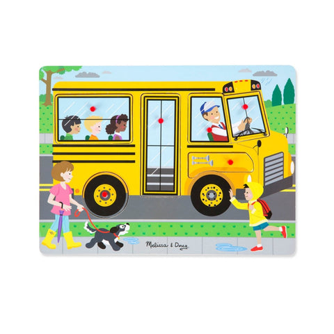 ahşap sesli puzzle yapboz the wheels on the bus