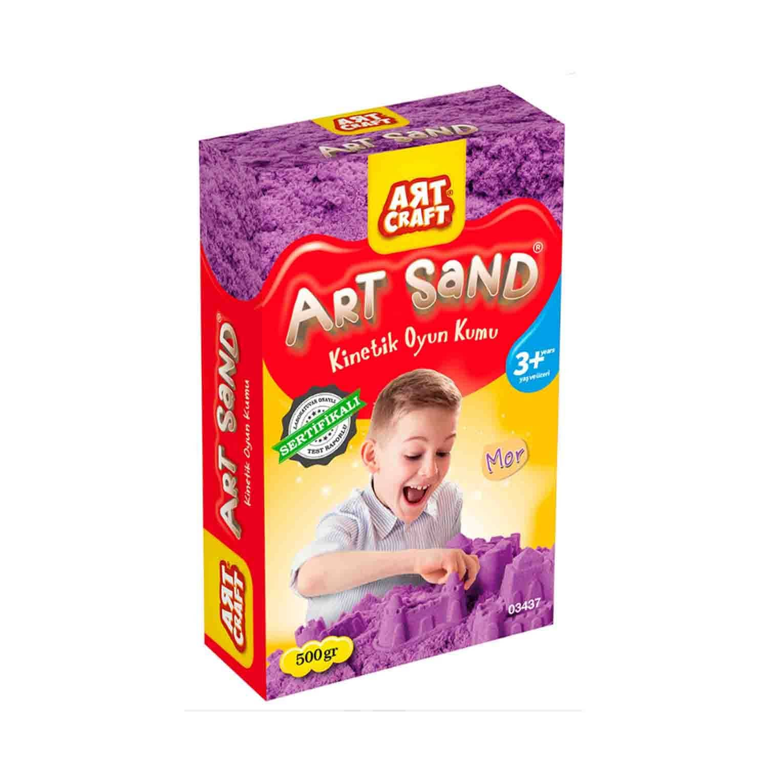 Art Craft Mor Kinetik Oyun Kumu 500 Gr