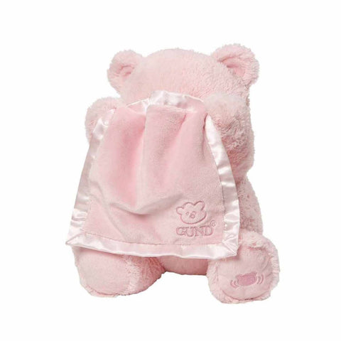 Gund My First Teddy Peek A Boo Pembe