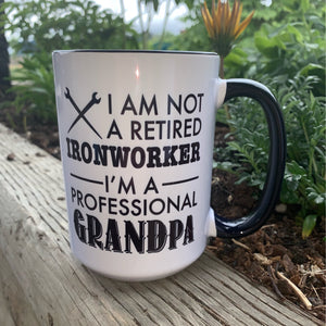 Retired Ironworker Grandpa Mug