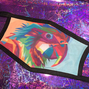 Colourful Parrot Face Mask