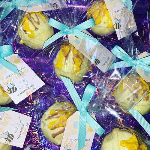 1st Bee-Day Bath Bomb Favours Set of 12