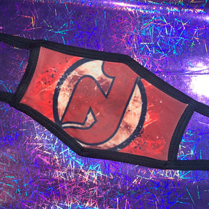 New Jersey Devils face mask