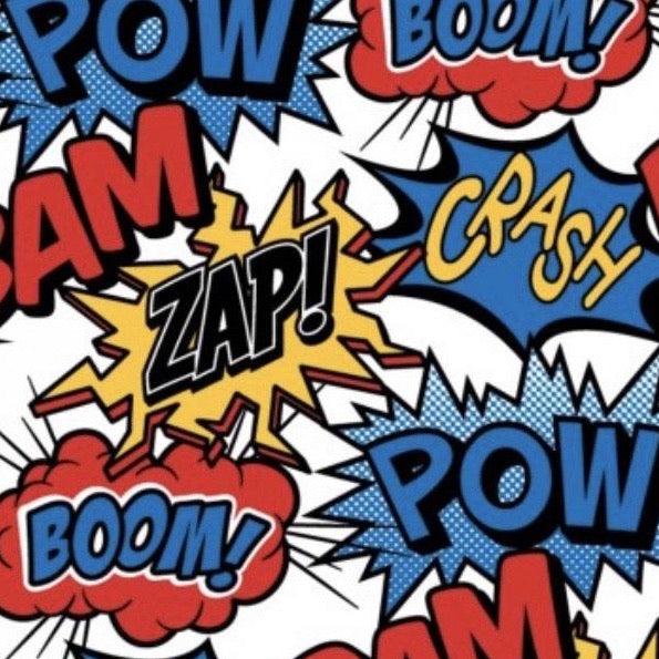 Build A Gift {Boom Comic Wrapping Paper}