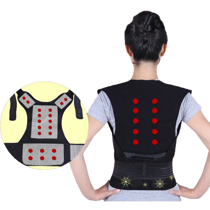 MTS-Tourmaline Heating Vest Back - Health Lumbar Intervertebral Disc Painless