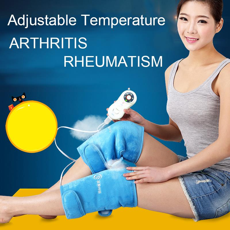 MTS-1 Pair Kneepads Heating Electric Far Infrared Magnetic Therapy Arthritis Rheumatism 220V 30W
