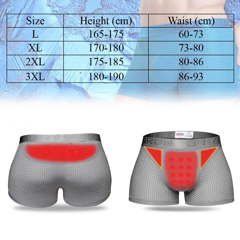 Male Underwear TOURMALINE PROSTATE MAGNETIC THERAPY