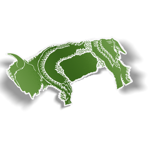Green Buffalo Sticker
