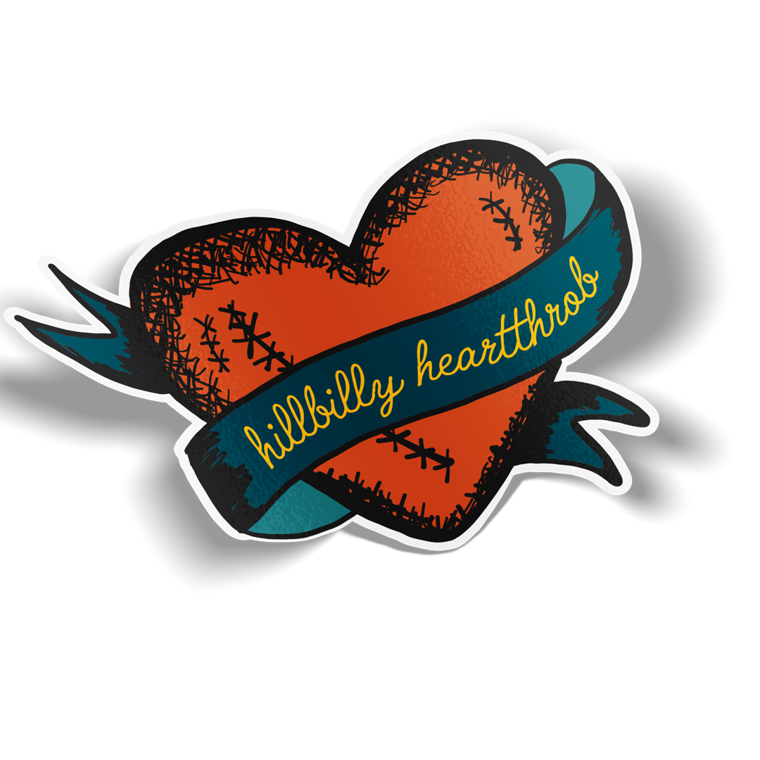 Hillbilly Heartthrob Sticker