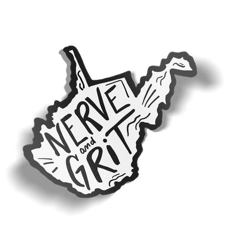 Nerve and Grit Sticker