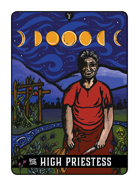 "Appalachian Tarot Card: ""The High Priestess"""