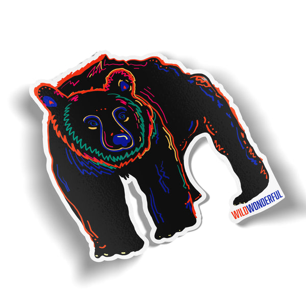 Wild Wonderful Black Bear Sticker