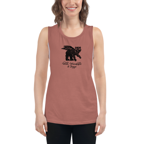 Wild, Wonderful and Fierce Bella Canvas Women's Muscle Tank